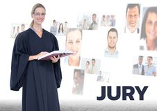 Judge in front of Jury people Royalty Free Stock Images