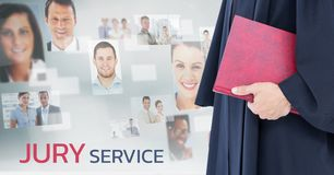 Judge in front of jury service people Stock Images