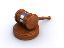 Judge gavel. 3d render of a judge gavel isolated on a white background Royalty Free Stock Photo