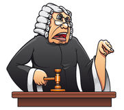 Judge with gavel. For law concept design in cartoon style Stock Photo