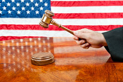 Judge and gavel Royalty Free Stock Photos