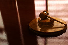 Judge gavel. With lighted background Royalty Free Stock Photos