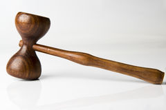 Judge gavel. On white background Stock Images