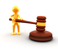 Judge with a gavel royalty free stock photo