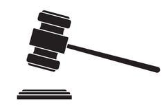 Judge gavel or auction hammer Stock Image
