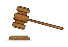 Judge gavel or auction hammer Royalty Free Stock Photo