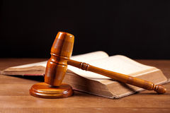 Judge gavel and book Stock Photo