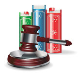 Judge gavel and book Royalty Free Stock Image
