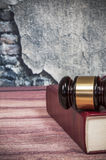 Judge gavel and book Stock Photography