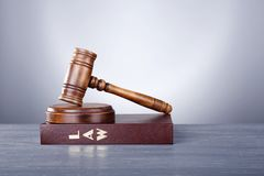 Judge gavel and book Royalty Free Stock Photo