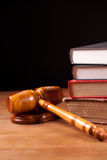 Judge gavel and books Stock Image