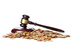 Judge gavel and euro Stock Images