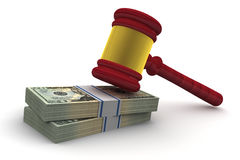 Judge Gavel and Money Stock Image