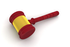 Judge Gavel Side View Stock Photos
