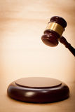 Judge Gavel and Soundboard Stock Photo