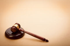 Judge Gavel and Soundboard Royalty Free Stock Photos