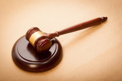 Judge Gavel and Soundboard Royalty Free Stock Photography