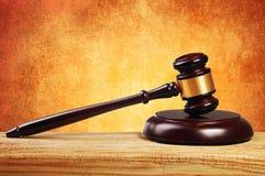 Judge gavel and soundboard Royalty Free Stock Image
