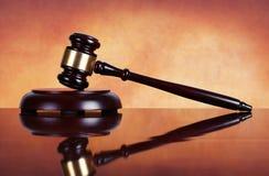 Judge gavel and soundboard Stock Images