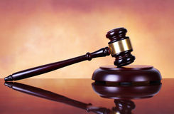 Judge gavel and soundboard Royalty Free Stock Images