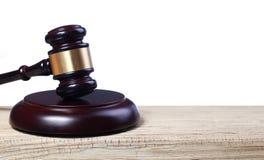 Judge gavel and soundboard Stock Photography