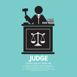 Judge With Gavel. Symbol Graphic Vector Illustration Royalty Free Stock Photography