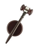 Judge gavel top view Stock Images