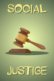 Judge gavel vector colorful icon Stock Photo