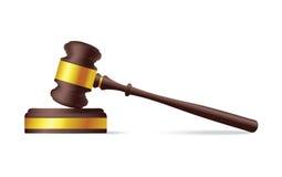 Judge gavel. Vector illustration Royalty Free Stock Photos
