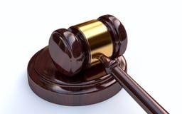 Judge gavel on white background stock photos