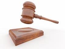 Judge gavel on white isolaed background Royalty Free Stock Images