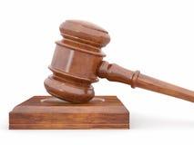 Judge gavel on white isolaed background Stock Images