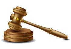 Judge gavel. Wood Judge gavel  on white Royalty Free Stock Photos