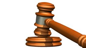 Judge gavel of wood Stock Image