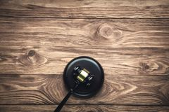 Judge Gavel on a wooden desk. Law concept royalty free stock photo