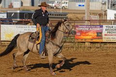 Judge at Grand Entry of a regional rodeo stock images