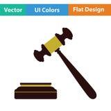 Judge hammer icon Royalty Free Stock Photo