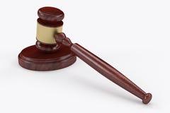 Judge hammer, mallet or gavel. 3D  judge hammer, mallet or gavel Stock Image