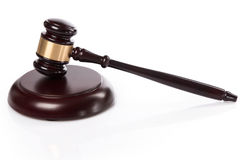 Judge hammer. On white background Stock Photo