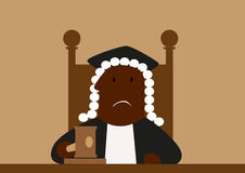 Judge in his wig passing judgment Stock Photos