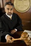 Judge Holding Gavel Royalty Free Stock Photography