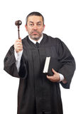 Judge holding the gavel and book Stock Photos