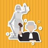 Judge  icon design Stock Photography