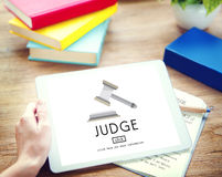 Judge Justice Judgement Legal Fairness Law Gavel Concept Stock Photo