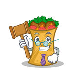Judge kebab wrap character cartoon. Vector illustration royalty free illustration