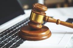 Judge on keyboard stock photos