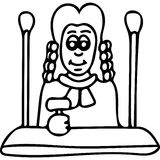 Judge kids coloring page Stock Photos