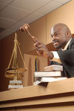 Judge making a rule Stock Photo