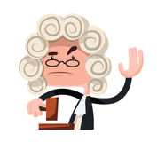Judge making a verdict  illustration cartoon character Royalty Free Stock Images