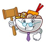 Judge meatballs are served in cartoon bowl royalty free illustration